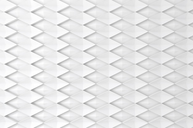 White diamond shape 3d wall for background, backdrop or wallpaper