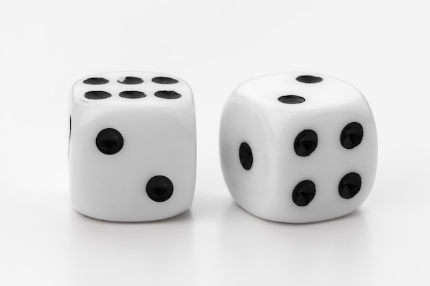 White dice isolated