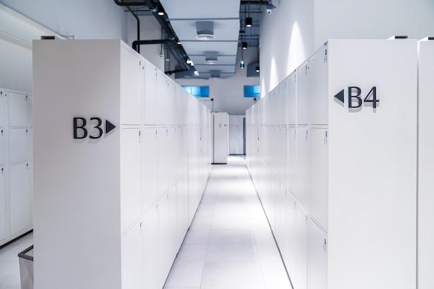 관광객을위한 흰색 디지털 럭셔리 사물함 중간 크기의 방