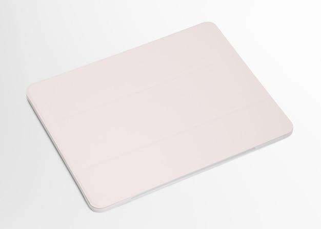 흰색 디지털 태블릿 케이스