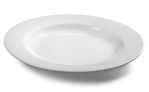 White dish isolate on white