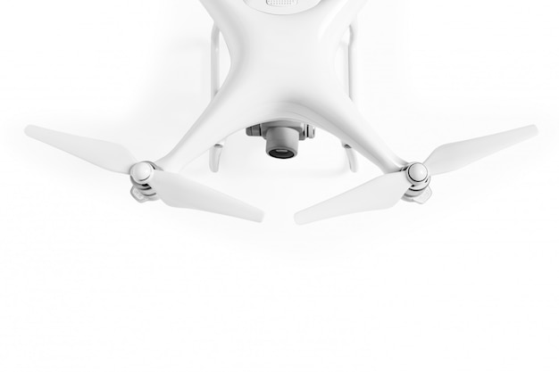 White drone isolated on white background