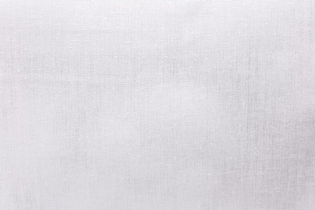 White ecology fabric texture background. blank canvas textile material or calico cloth.