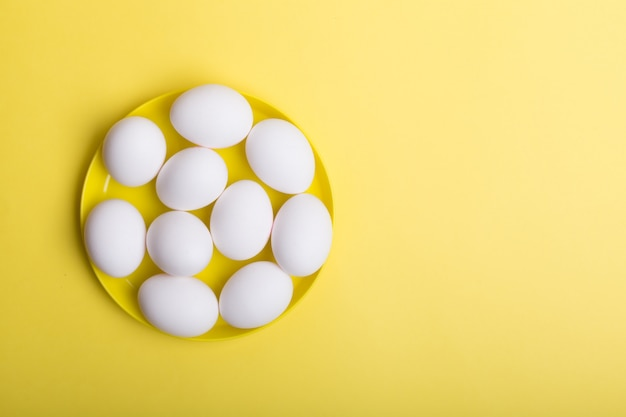 White eggs . horizontal orientation
