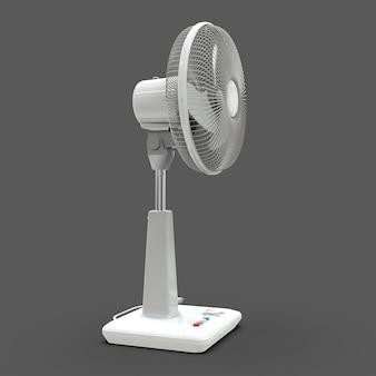 White electric fan