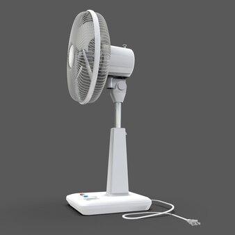 Белый электровентилятор
