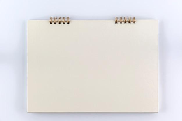 White empty desk calendar on white background