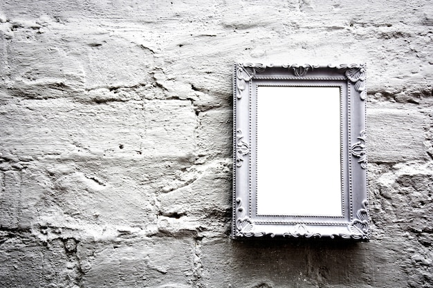 White empty frame with free copy space.