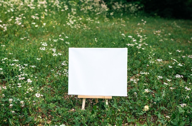 White empty mockup template poster canvas painting