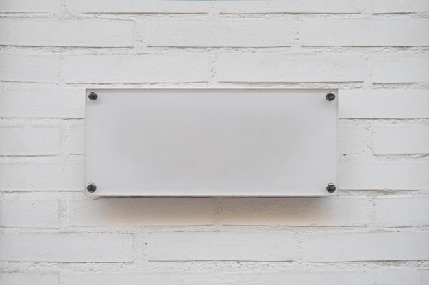 White empty placard for business logo