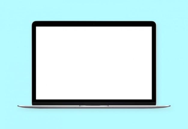 Белый пустой экран ноутбук электроника