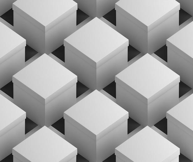 Белые пустые упрощенные картонные коробки