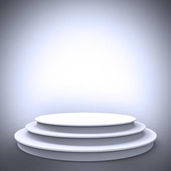 White empty stage