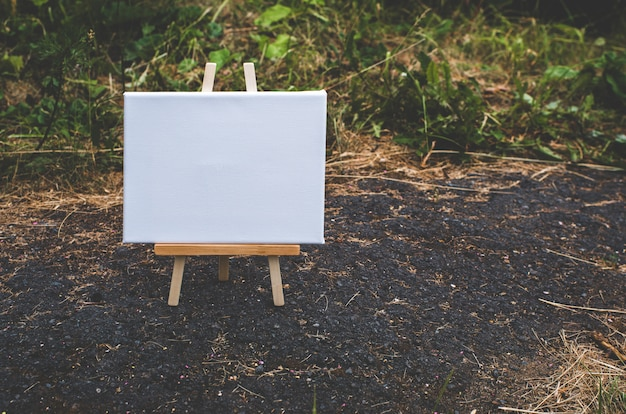 White empty template poster canvas painting