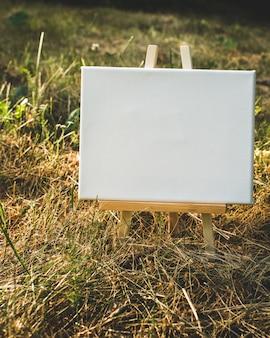白い空のテンプレートポスターキャンバス絵画