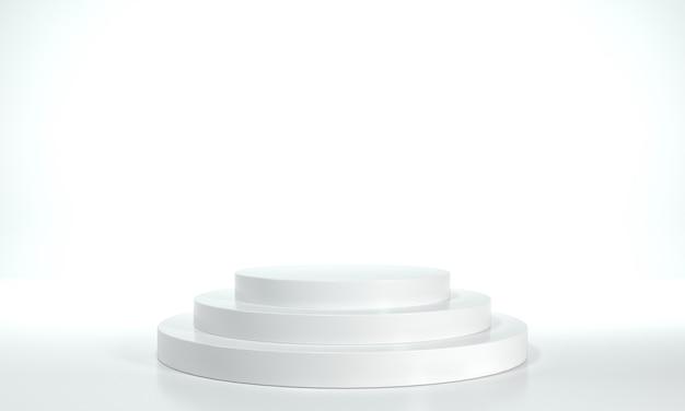 White exhibition podium