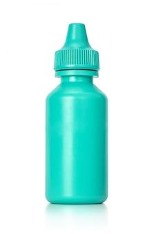 White eyedropper bottle isolated