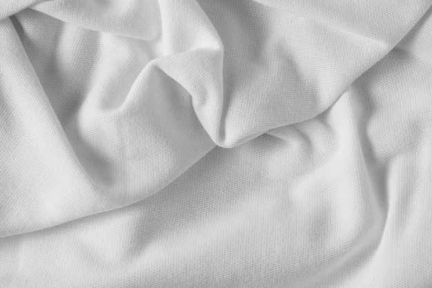 White fabric cloth background texture