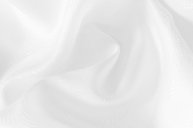 White fabric cloth texture, beautiful crumpled pattern of silk or linen.