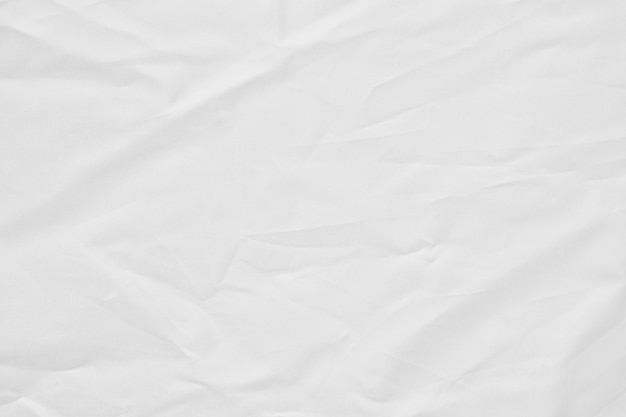 White fabric wrinkled canvas texture