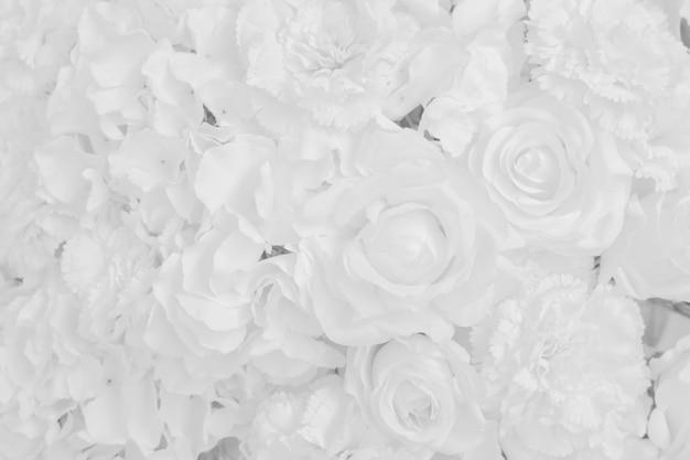 White flower background.