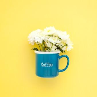White flowers in mug