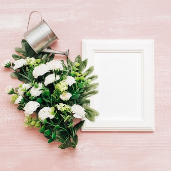 White flowers with frames