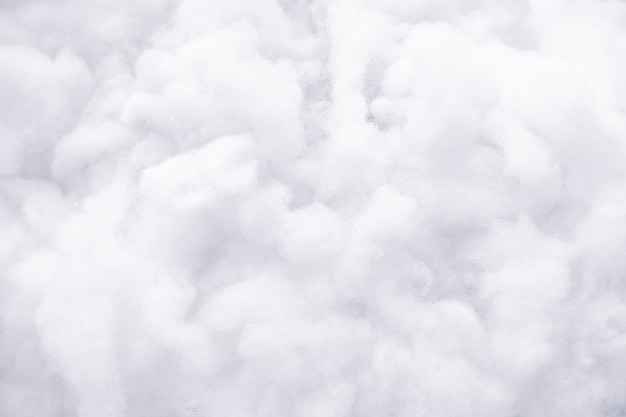 White fluffy cotton background, abstract luxury wadding cloud texture