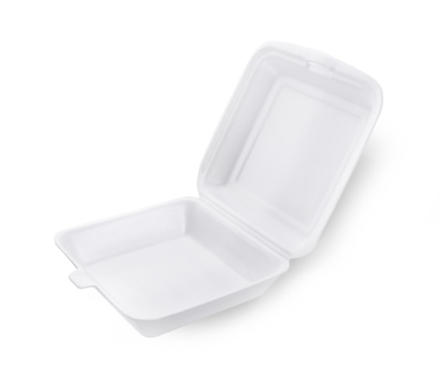 白い背景で隔離の白い泡ボックス