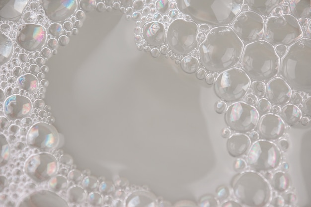 White foam texture abstract background closeup