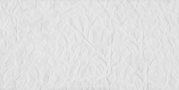 White fold paper and crumpled background.