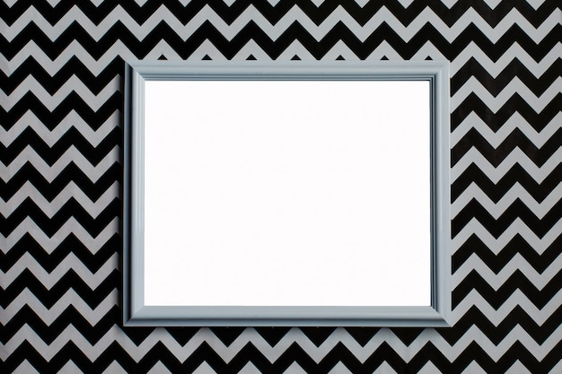 White frame on a creative white and black background