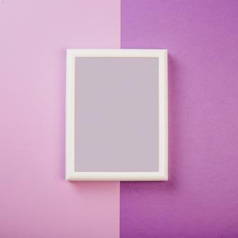 White frame on purple background