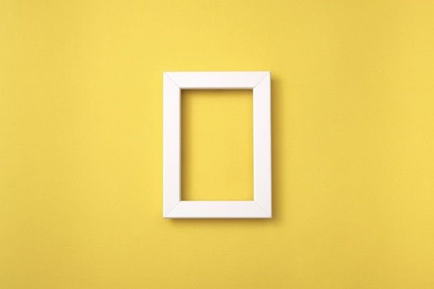 White frame top view