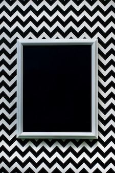 White frame with blank on white and black background