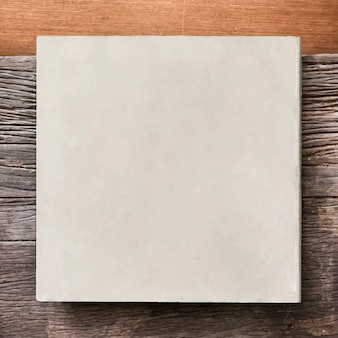 White frame on wooden background vector