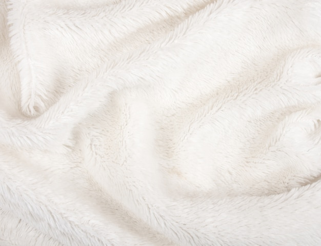White fur as a fur texture or background