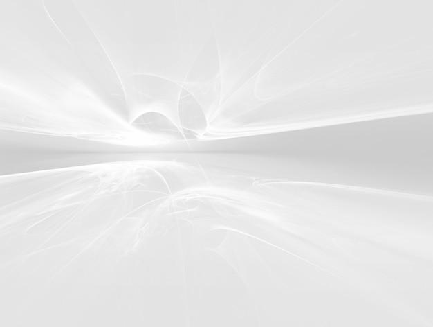 Белый футуристический фон фрактальный горизонт