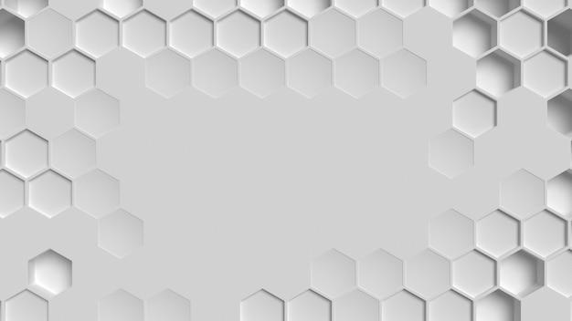 白い幾何学的な背景のコピースペース