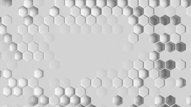 白い幾何学的な背景の上面図