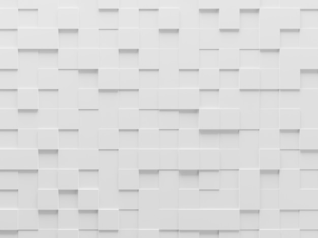 White geometric cube background