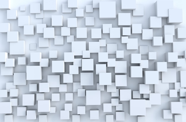 White geometric cube shapes  background. for design decorate.