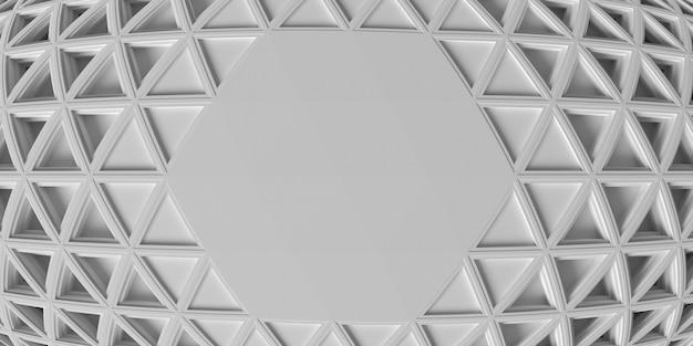 Белый геометрический фон с эффектом рыбьего глаза