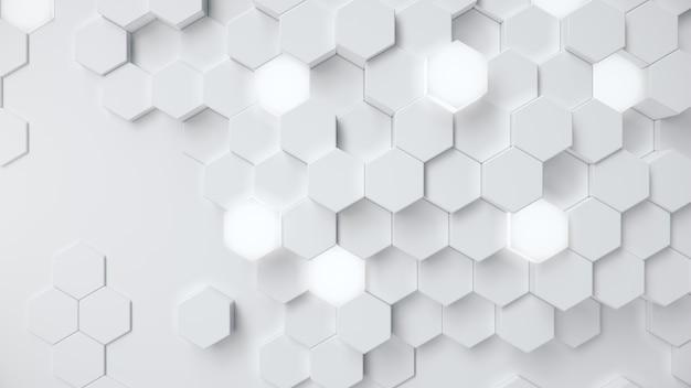 白の幾何学的な六角形のハニカム抽象