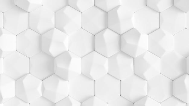 白い幾何学的な六角形