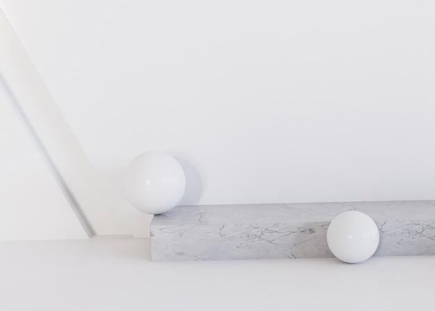 白い幾何学的形状の背景