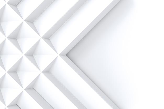 コピースペースの背景に白い幾何学的な正方形の格子パターン。