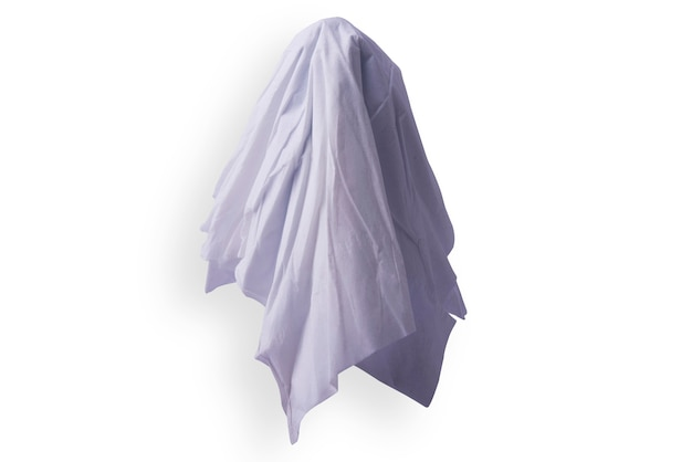 White ghost isolated over white background