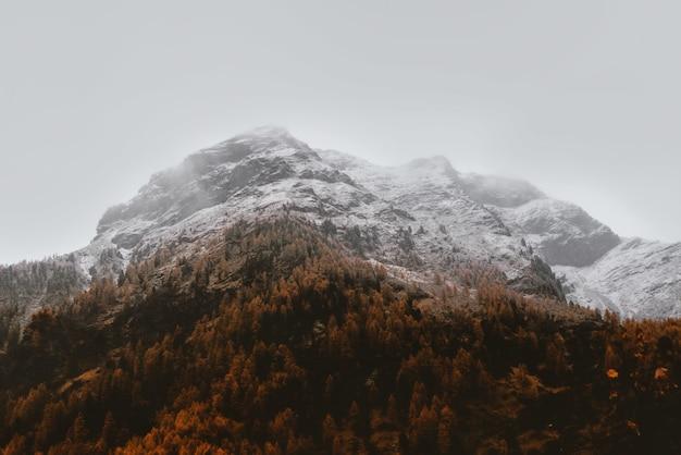 White glacier mountain