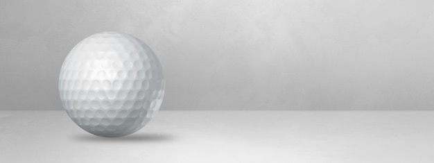 White golf ball isolated on a blank studio